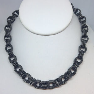 Milor Bronze Italy Black Rhodium Link Necklace